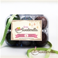 Granja Sweeterella - Rotulo para caixa de 6 mini ovos de Páscoa, Layout para Website, Alimentos & Bebidas