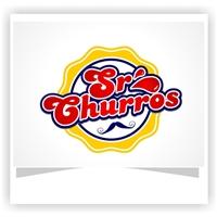 Sr Churros, Logo e Cartao de Visita, Alimentos & Bebidas