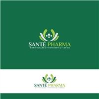 SANTÉ PHARMA, Logo e Cartao de Visita, Saúde & Nutrição
