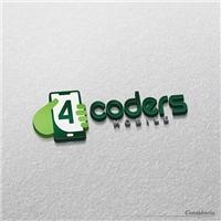 4Coders, Logo, Computador & Internet