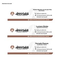 Assinatura de email Approval Avaliaçoes e Engenharia, Layout para Website, Consultoria de Negócios