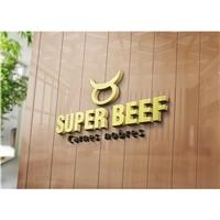 SUPER BEEF, Logo e Cartao de Visita, Alimentos & Bebidas