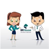 BR House Inteligência Imobiliária, Folheto ou Cartaz (sem dobra), Imóveis