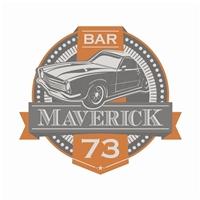 Bar Maverick 73, Logo e Cartao de Visita, Alimentos & Bebidas