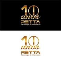 Logo comemorativo 10 anos, Logo, Computador & Internet