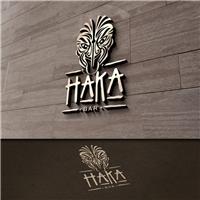 HAKA BAR, Logo e Cartao de Visita, Alimentos & Bebidas