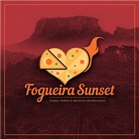 FOGUEIRA SUNSET - Pizzas e Beliscos Apaixonados , Logo e Cartao de Visita, Alimentos & Bebidas