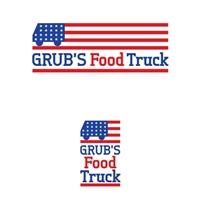 Grub´s Food Truck, Logo e Cartao de Visita, Alimentos & Bebidas