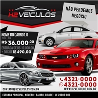 h2 veiculos, Layout e-Commerce, Automotivo