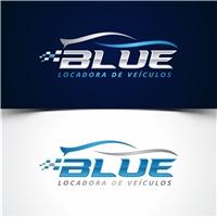BLUE LOCADORA DE VEICULOS LTDA, Logo, Automotivo