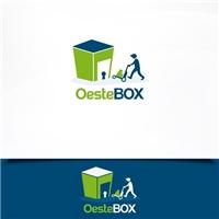 oeste box, Logo e Cartao de Visita, Logística, Entrega & Armazenamento