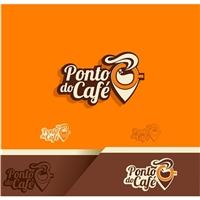 Ponto do Café, Logo e Cartao de Visita, Alimentos & Bebidas