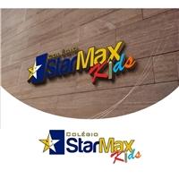 Star Max Kids, Logo e Cartao de Visita, Educação & Cursos