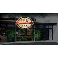 Madallena Pizza/Bar, Logo e Cartao de Visita, Alimentos & Bebidas