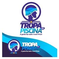 Tropa da Piscina, Logo e Cartao de Visita, Limpeza & Serviço para o lar