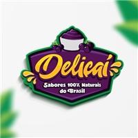Nome Deliçaí Açai e lanches naturais e sucos naturais e detox, Logo e Cartao de Visita, Alimentos & Bebidas