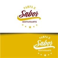Pampa e Sabor (Restaurante), Logo e Cartao de Visita, Alimentos & Bebidas
