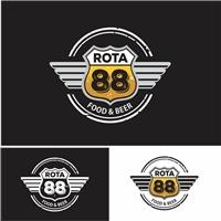 Rota88 food beer, Logo e Cartao de Visita, Alimentos & Bebidas