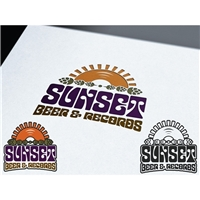 Sunset Beer & Records, Logo, Alimentos & Bebidas