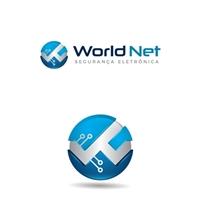 World Net, Logo e Cartao de Visita, Segurança & Vigilância