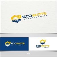 EcoWatts Energia Solar Ltda, Logo, Metal & Energia