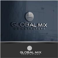 Global Mix Construtora, Logo e Cartao de Visita, Construção & Engenharia