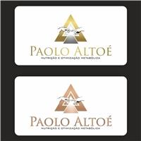 Paolo Altoé - Nutrição e Otimização Metabólica, Logo e Cartao de Visita, Saúde & Nutrição