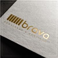 BRAVA, Logo e Cartao de Visita, Decoração & Mobília