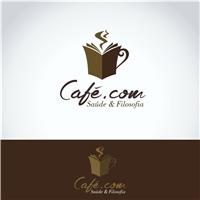 CAFÉ.COM SAÚDE & FILOSOFIA, Logo e Cartao de Visita, Alimentos & Bebidas