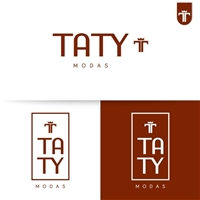 Taty Modas, Logo e Cartao de Visita, Roupas, Jóias & acessórios