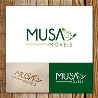 Musa Móveis, Logo e Cartao de Visita, Decoração & Mobília