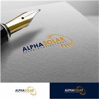 Alpha Solar, Logo e Cartao de Visita, Metal & Energia
