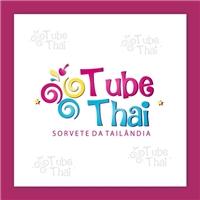 TubeThai - Sorvete da Tailândia , Logo e Cartao de Visita, Alimentos & Bebidas