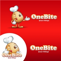 One Bite, Great Fillings, Logo e Cartao de Visita, Alimentos & Bebidas