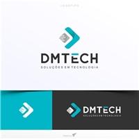 DMTECH - Soluções em Tecnologia, Logo e Cartao de Visita, Tecnologia & Ciencias