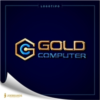 GOLD COMPUTER, Logo, Computador & Internet