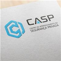 CASP – Centro de Aperfeiçoamento em Segurança Privada , Logo e Cartao de Visita, Segurança & Vigilância