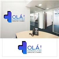 Olá Consultas! - Consultas e Exames, Logo e Cartao de Visita, Saúde & Nutrição