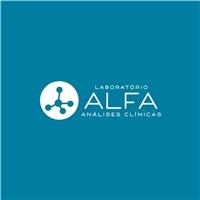 LABORATÓRIO ALFA, Logo e Cartao de Visita, Saúde & Nutrição
