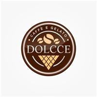 Dolcce Caffè e Gelato, Logo e Cartao de Visita, Alimentos & Bebidas