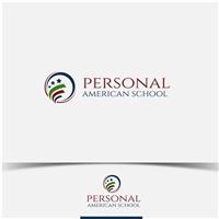 Personal American School, Logo e Cartao de Visita, Educação & Cursos