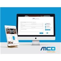 MCD CONTABIL, Logo em 3D, Contabilidade & Finanças