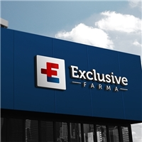 Exclusive Farma, Logo e Cartao de Visita, Saúde & Nutrição