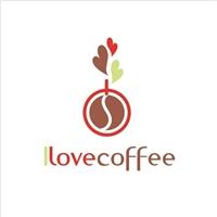 I love coffee, Logo, Alimentos & Bebidas