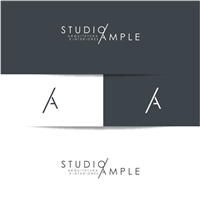 Studio Ample, Logo e Cartao de Visita, Arquitetura