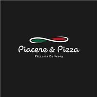 Piacere & Pizza, Tag, Adesivo e Etiqueta, Alimentos & Bebidas