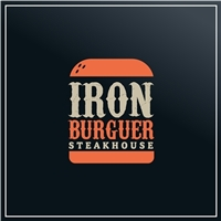 Iron burguer steakhouse , Tag, Adesivo e Etiqueta, Alimentos & Bebidas