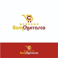 Mercado Bom Churrasco, Tag, Adesivo e Etiqueta, Alimentos & Bebidas