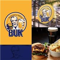 Buk Burger & Beer, Logo e Cartao de Visita, Alimentos & Bebidas