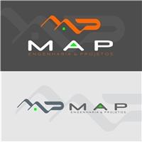 MAP Engenharia & Topografia, Logo, Construção & Engenharia